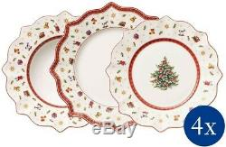 Villeroy & Boch Christmas China Toy's Delight Dinnerware Set 12 Pcs White