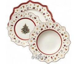 Villeroy & Boch Christmas Toy's Delight Dinnerware Set 18 Pcs, White