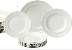 Villeroy & Boch MANOIR 18-Piece White Porcelain Dinnerware Set Service for 6