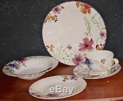Villeroy& Boch Marlefleur 30 pc 6 Person Dinnerware Set NEW