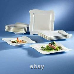 Villeroy & Boch New Wave 30-Piece Square Dinnerware Set Service for 6