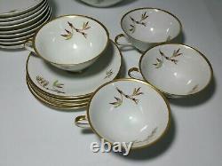 Vintage 36 pc Bombay Edelstein Dinnerware Dish Set Bavaria Germany Bamboo Plates