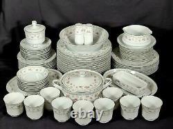 Vintage Abingdon Fine Porcelain China Dinnerware 72 Piece Set Made in Japan