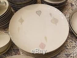 Vintage Chic Mid-century Modern Yamaka China Set Japan Bon Soir Dishes 73 Pcs