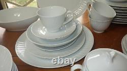 Vintage China Dinnerware set Snowden NORITAKE White Fine China ca1962 ser 8+ 73p