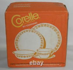 Vintage Corelle BUTTERFLY GOLD 20pc Dinnerware Set, Original Factory Sealed Box