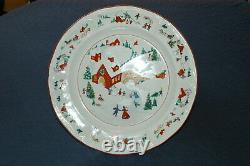 Vintage FARBERWARE White Christmas 95 #391 Dinnerware China set. 48-piece Serv
