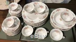 Vintage Favolina Poland 8 Place Settings Garland Garlandia floral dinnerware set