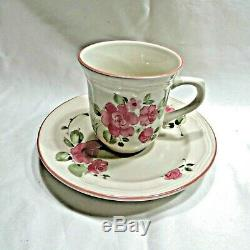 Vintage Gibson Roseland Pink Rose Dinnerware 61 pc Service for 8 local pick up