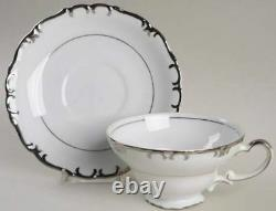 Vintage Gold China Baronet Dinnerware Set 12 servings, 92 pc crafted in Japan