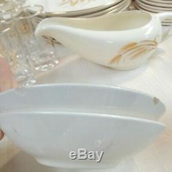 Vintage Homer Laughlin Golden Wheat 73 pc Dinnerware Dish Set