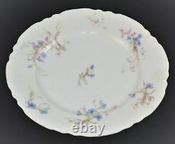 Vintage Limoges Haviland France Dinnerware Set Tiny Flowers Pink Blue