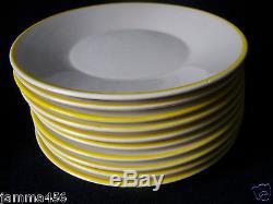 Vintage Mancioli China Dinnerware Hand Painted Floral Yellow