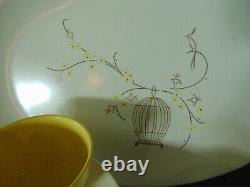 Vintage Melamine Melmac Dinnerware Service For 8 Yellow and white 41 Pieces