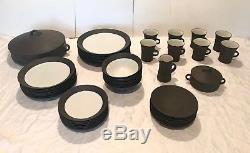 Vintage Midcentury Dansk Denmark Flamestone Dinnerware IHQ Complete Set 8 piece