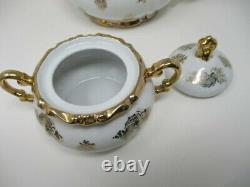 Vintage Mitterteich Bavaria China Tea Set Gold Trim 27 Pieces
