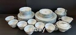 Vintage NORITAKE Mavis Pattern-49 Piece Dinnerware Set