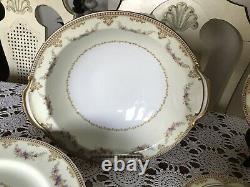 Vintage-Noritake China DINNERWARE MONNETTE 3809- 8 Place Setting- 58 Pieces