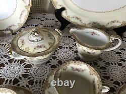 Vintage-Noritake China DINNERWARE MONNETTE 3809- Occupied Japan- 48 Pieces