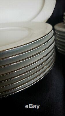 Vintage Noritake China Ranier (White on White Floral) 6909 Pattern Dinnerware