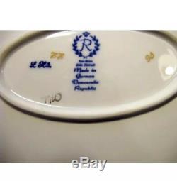Vintage Raichenbach Germany Echt Kobalt Oval 15 Big Serving Platter