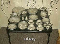 Vintage Sascha Brastoff Smoke Tree Pottery Dinnerware 4 Place Setting 50 Pcs