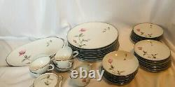 Vintage Style House Japan Dawn Rose Dinnerware Set, Pink Roses Dishes 44 Pieces