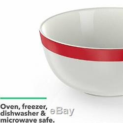 Vremi 16 Piece Dinnerware Set Service for 4 Round Porcelain Dinner Plates Bow
