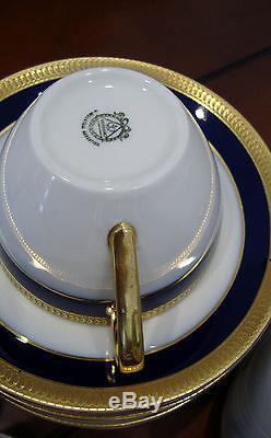 Vtg. Verbano Industria Argentina Porcelain Coffee and Tea Set 36 Pieces