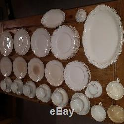 W. H. Grindley & Co. England White Gold Antique Vintage Collection Dinnerware AX