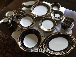 WEIMAR KATHARINA Kobalt Blue/Gold 20003 Porcelain Dinnerware, 6pc Service for 6