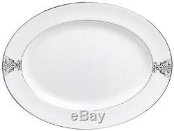 Wedgwood Vera Wang Imperial Scroll 50 pc Bone China Dinnerware set for 8 New
