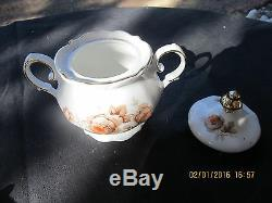 Winterling Bavaria Germany Brown Bouquet Coffee Luncheon Set For 6 21pc