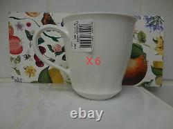 X 6 Villeroy & Boch Farmhouse Touch RELIEF MUGS NEW
